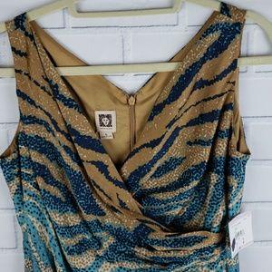 Anne Klein faux wrap 100% cotton dress